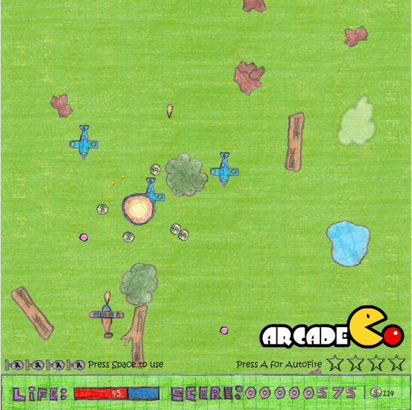 Online-игра «Самолетики в тетради»